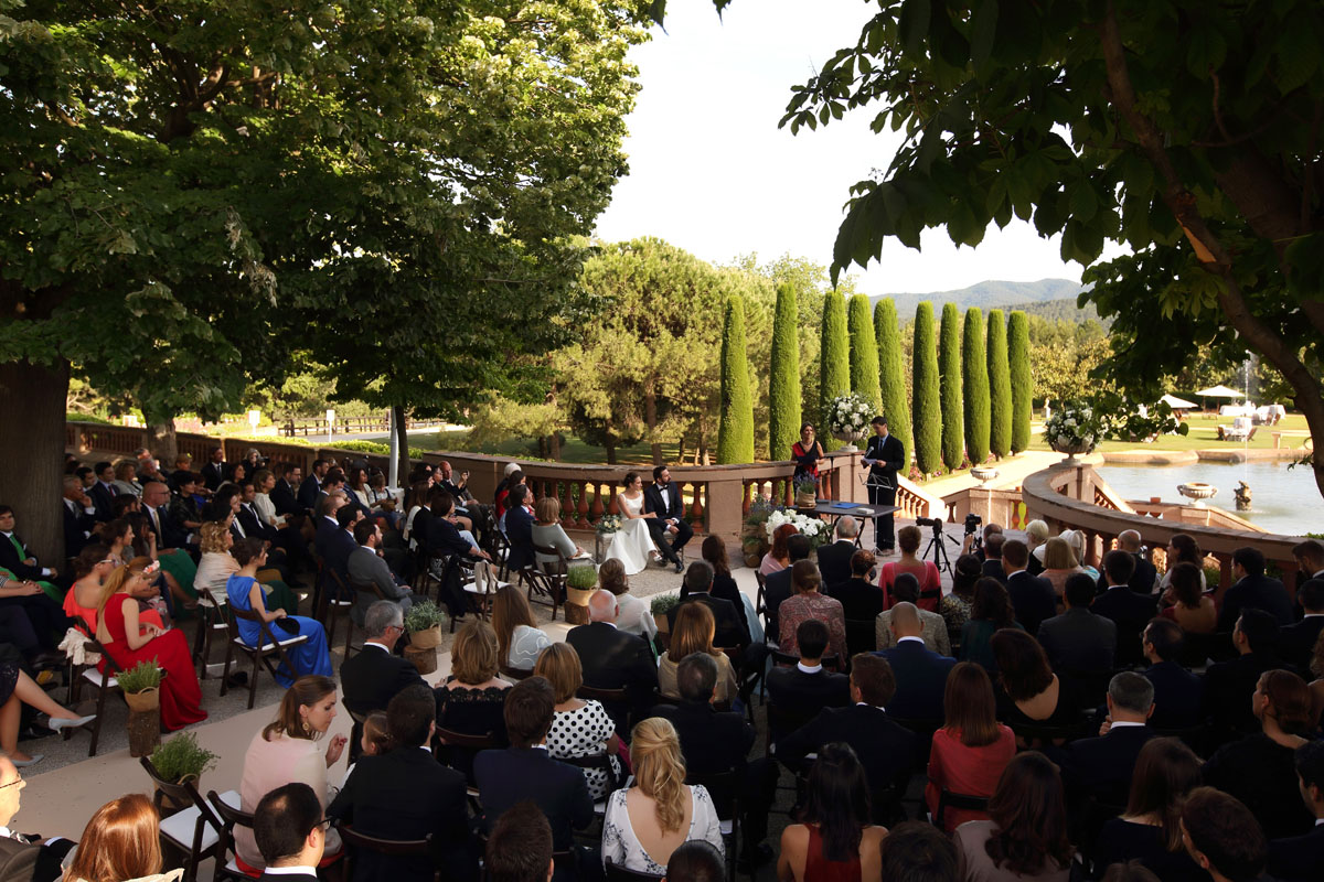 Civil ceremony in the castle sant marcal 21