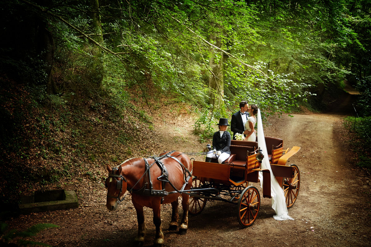 Romantic wedding in the forest 39