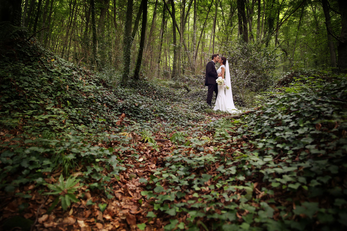 Romantic wedding in the forest 44